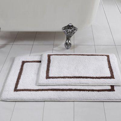 Winston Porter Mccue Reversible Contrast 2 Piece Bath Rug Set