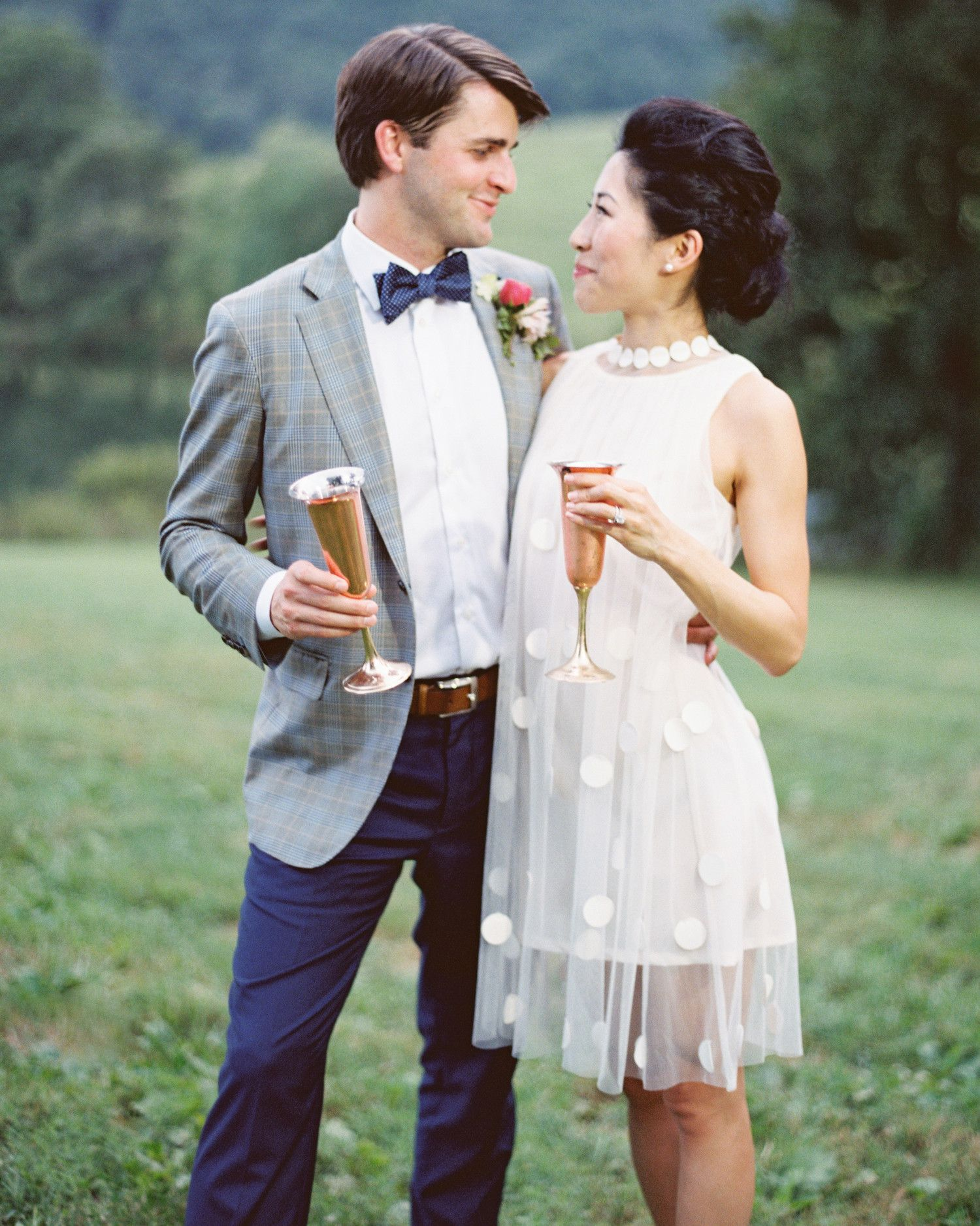 How real brides wore short wedding dresses wedding ideas