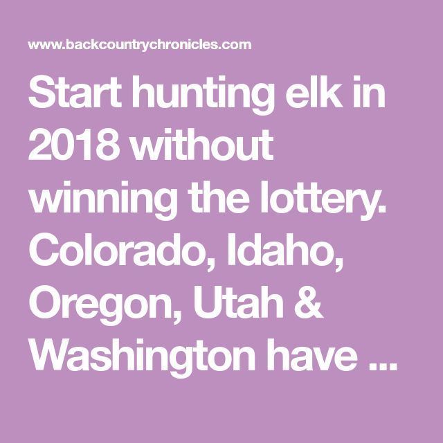 Elk hunting utah hunting & elchjagd utah & chasse au