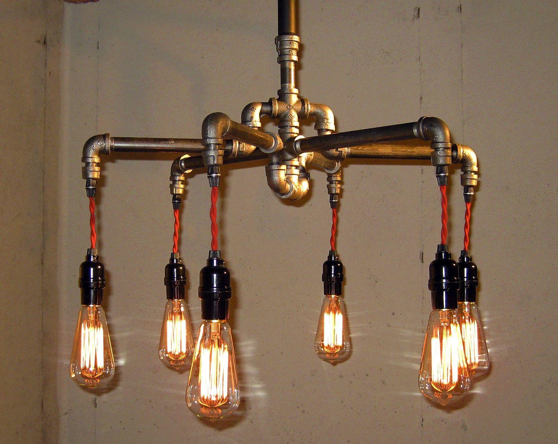 steampunk chandelier by the milton douglas lamp co. Black Bedroom Furniture Sets. Home Design Ideas