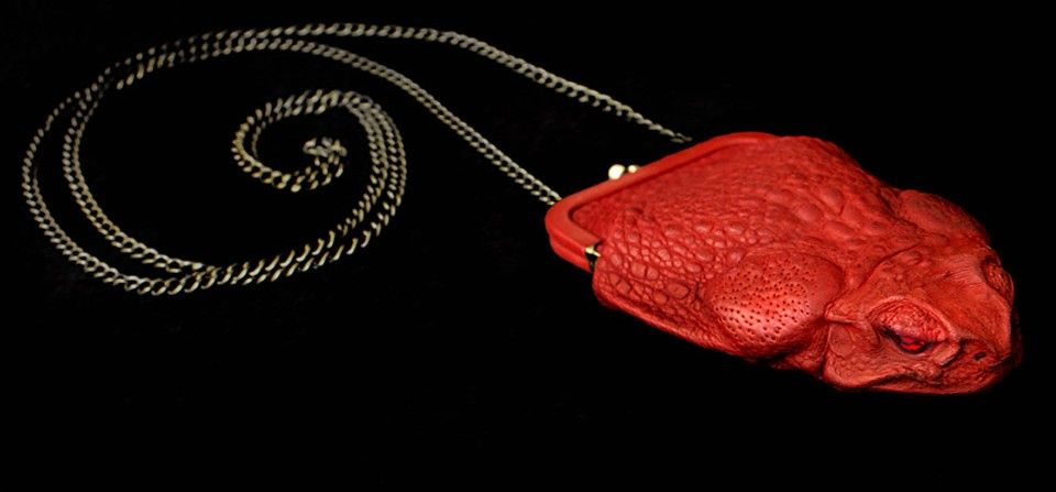 Toad Evening Bag Vermilion Red