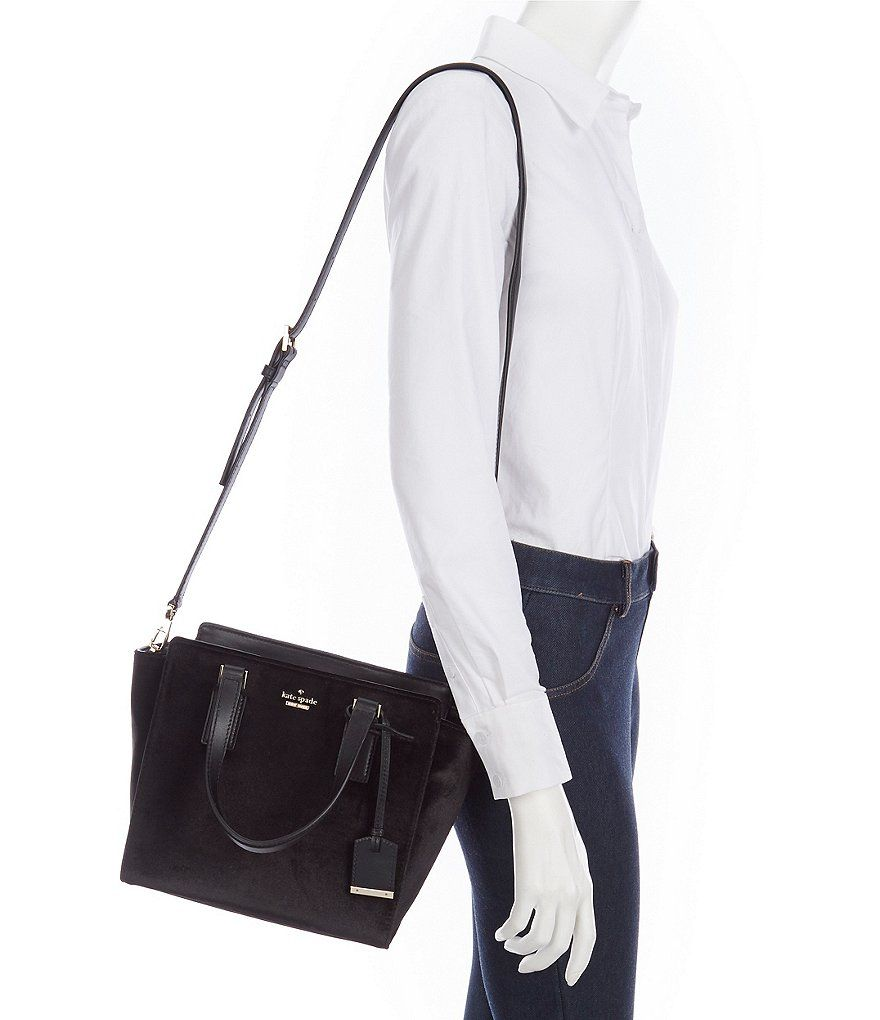 e6ac4119fb99 kate spade new york Cameron Street Small Hayden Velvet Satchel. Find this  Pin and more on Handbags ...