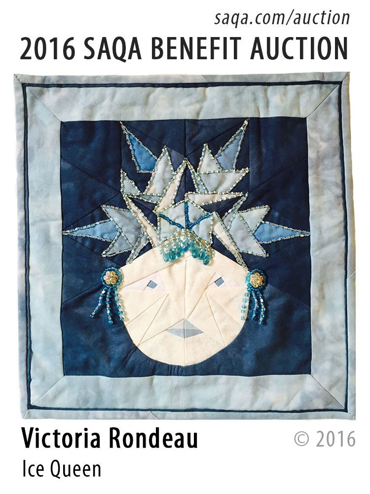 """Ice Queen"" - art quilt by Victoria Rondeau"