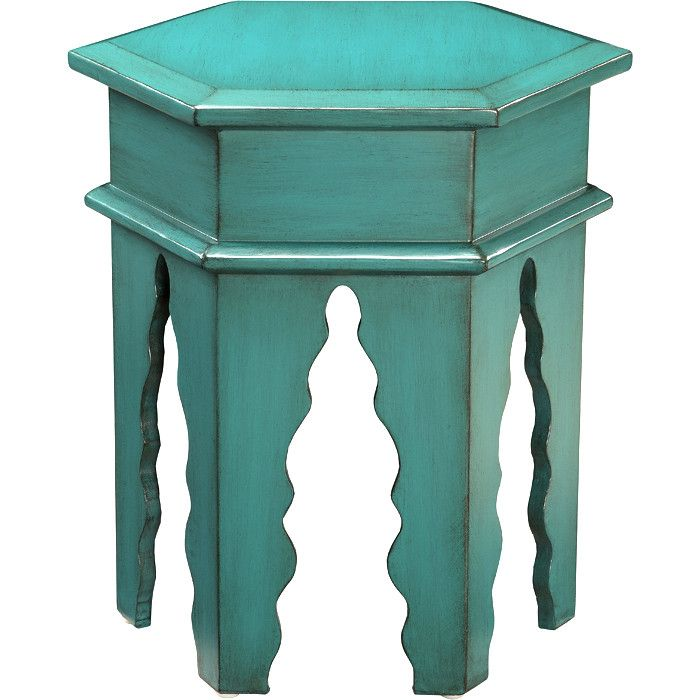 Finola Accent Table In Teal Teal Accent Table Home Table