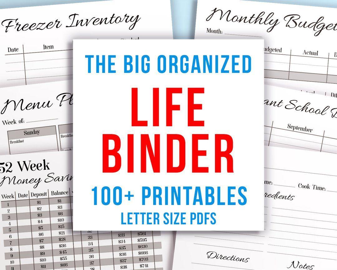 Whole Life Binder Printable