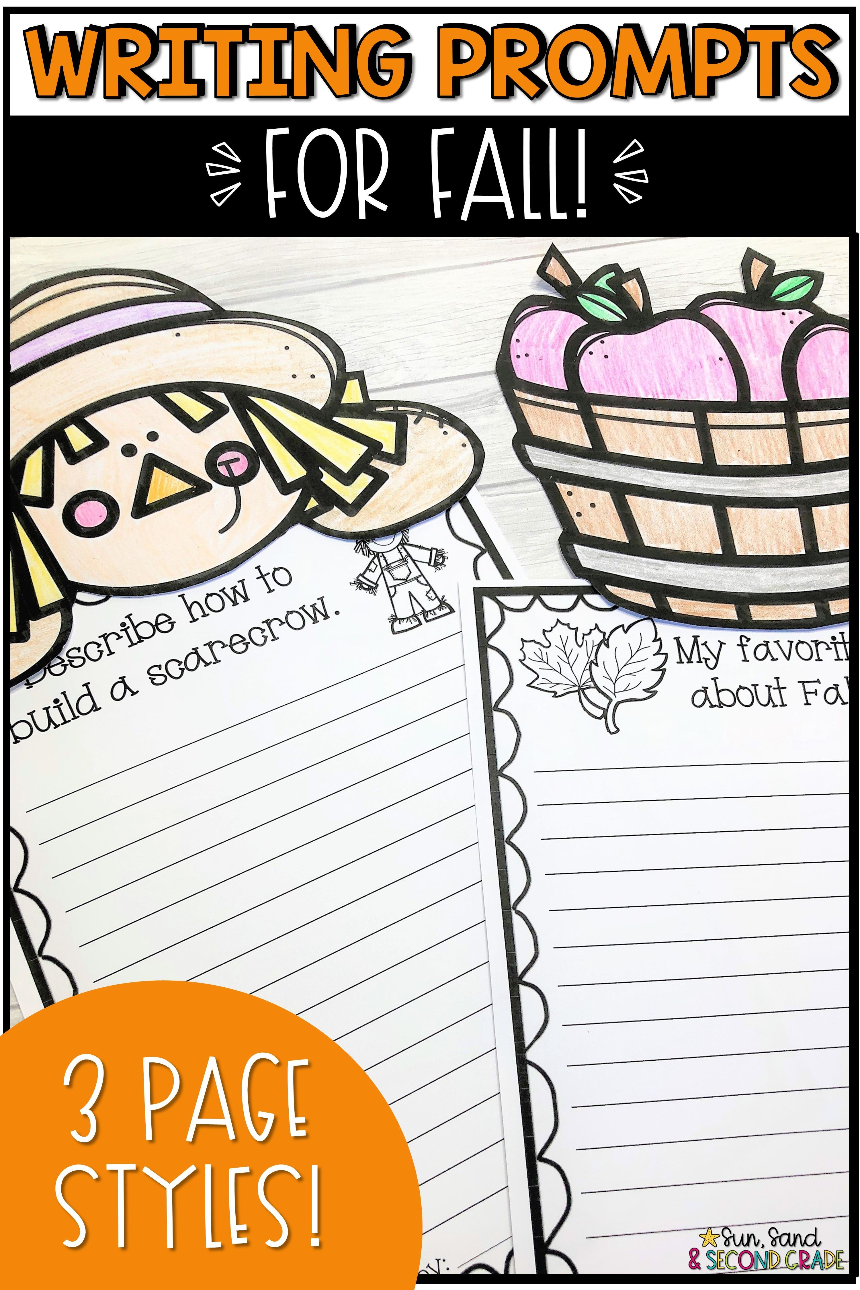 Fall Writing Prompts Amp Page Topper Craftivities With