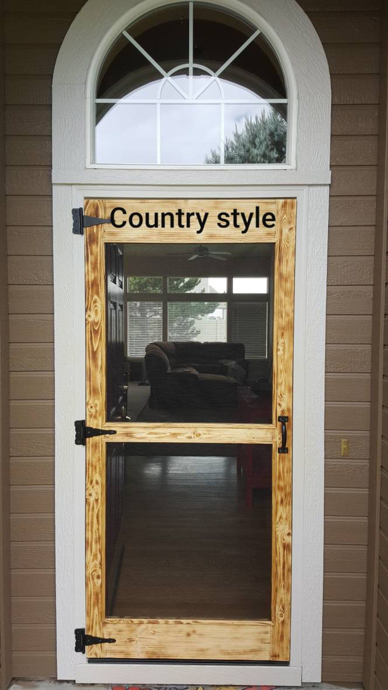 As Seen On Pinterest Rustic Country Hand Made Screen Doors Hardware Included Diy Screen Door Sliding Glass Door Rustic Front Door