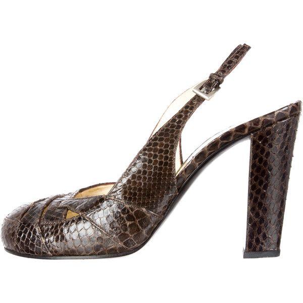 Pre-owned - Python sandals Prada xaDfz