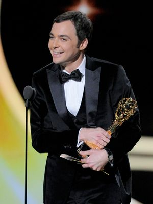 Jim Parsons accepts the award for outstanding lead actor in a comedy series for 'The Big Bang Theory' at the 63rd Primetime Emmy Awards on Sunday, Sept. 18, 2011 in Los Angeles