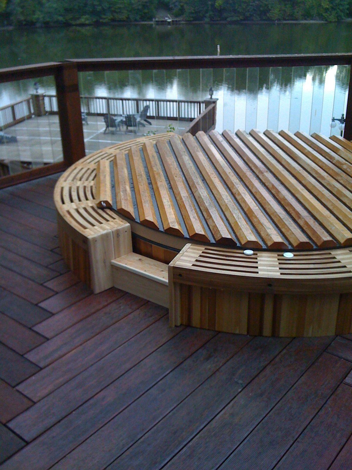 Cedar hot tubs in 2020 hot tub deck round hot tub hot
