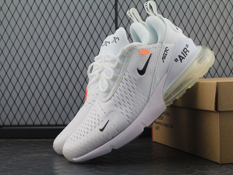 Off White X Nike Air Max 270 Ow White Black Orange Women Men
