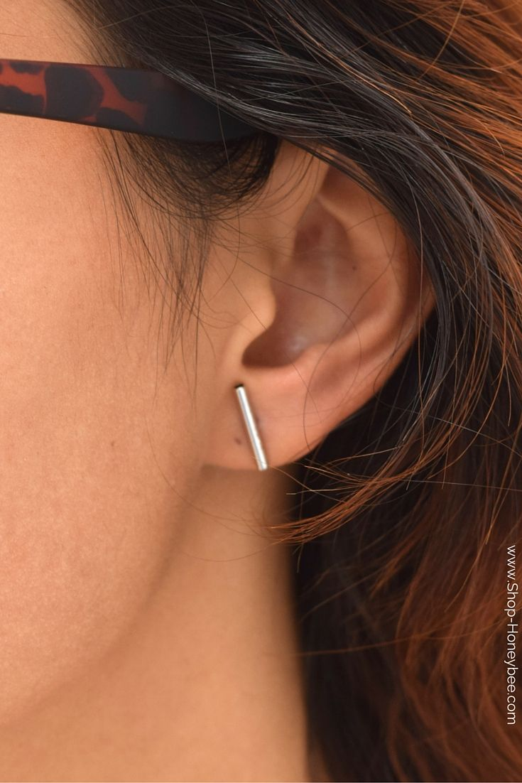 Double sided nose piercing  Love Our Posted Earrings are the chic girlus ultimate minimal