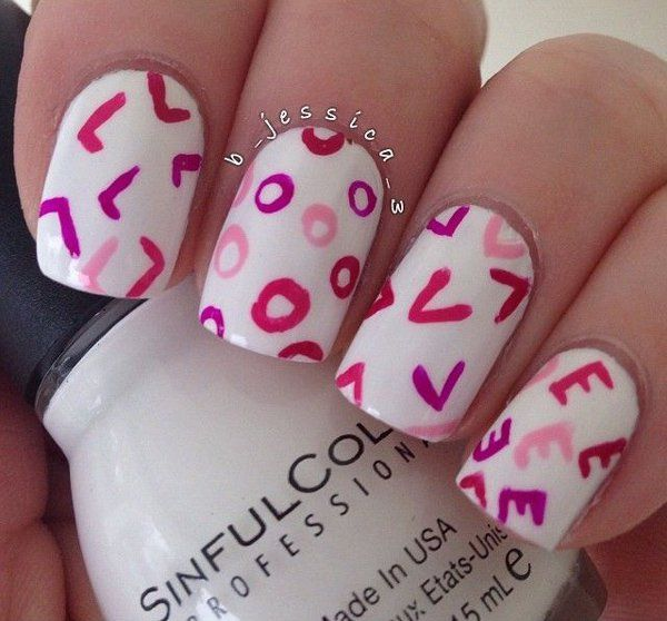 50 Valentine S Day Nail Art Ideas Valentines Nails Special Nails Valentine S Day Nails