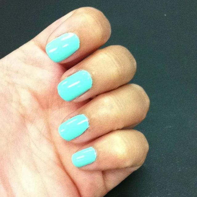 Neon Blue Nail Polish Colors