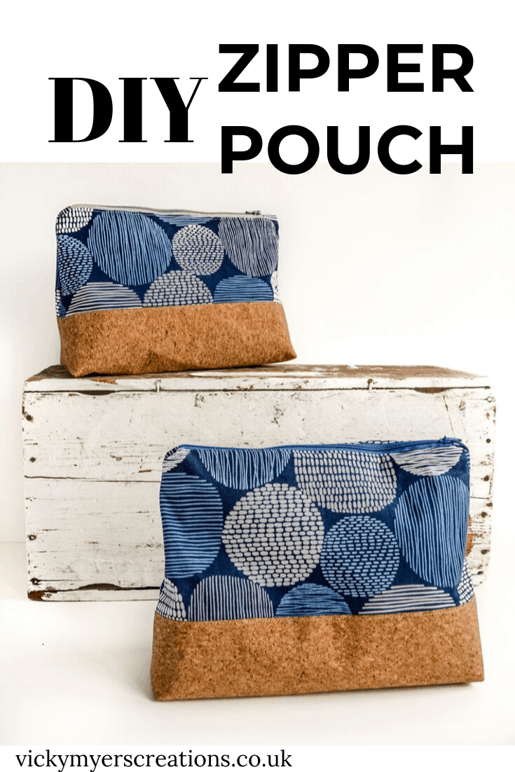 How to make a zippered pouch tutorial flat bottom