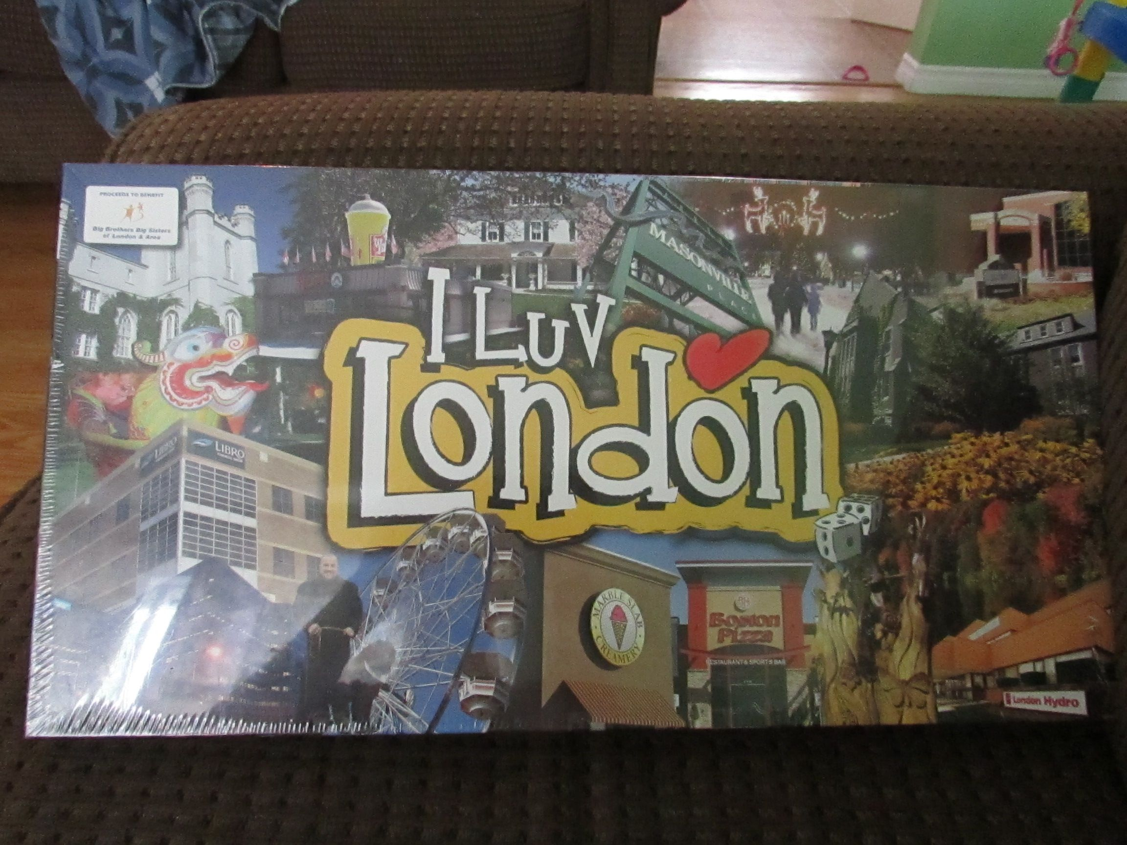 I Luv London Board Game About London Ontario Canada New