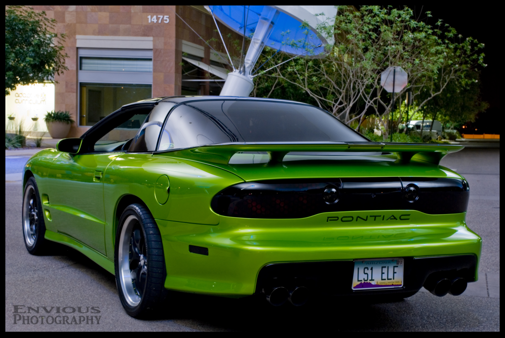 Viper green, CETA mod, blacked out tail lights, black top of