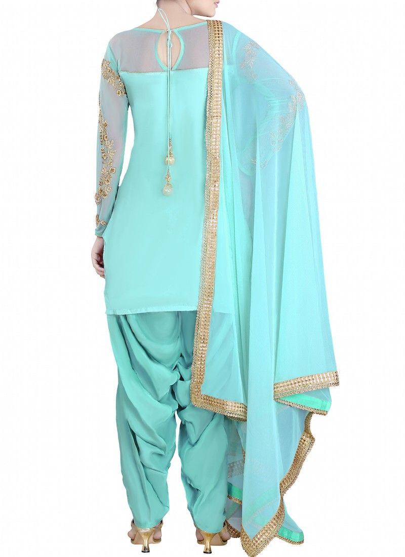 Mint Embroidered Punjabi Suit | Wedding and Indian fashion ...