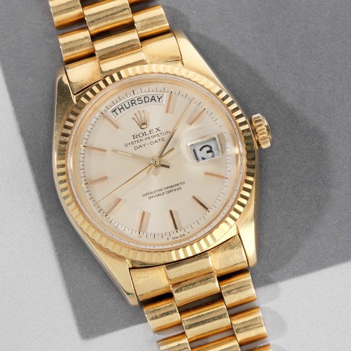 Rolex Day Date Silver Dial 1803 Rolex Day Date Rolex Vintage Timepiece