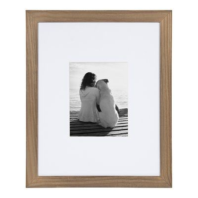 Alcott Hill Aponte Picture Frame Colour Rustic Brown Picture Size 16 X 20 Matted To 8 X 10 Picture On Wood Wood Picture Frames Picture Frames