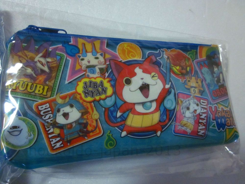 NEW Yokai Watch Jibabyan Soft Pencil Case Orochi Pouch Made in JAPAN F/S