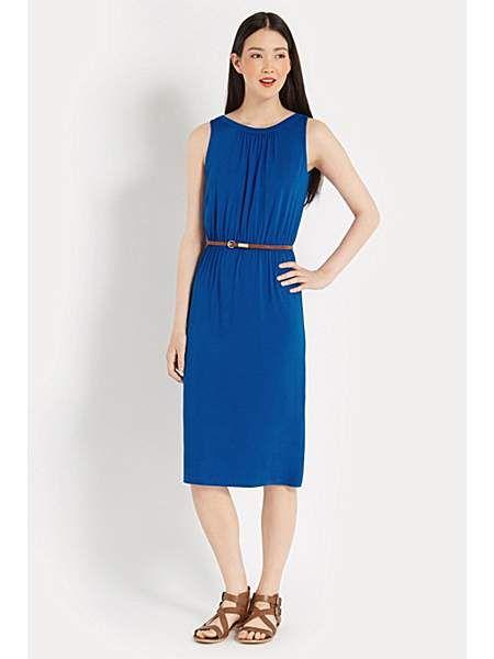 fd261c8cd7ad Grecian midi dress   Clothes   Yellow midi dress, Dresses, Blue midi ...