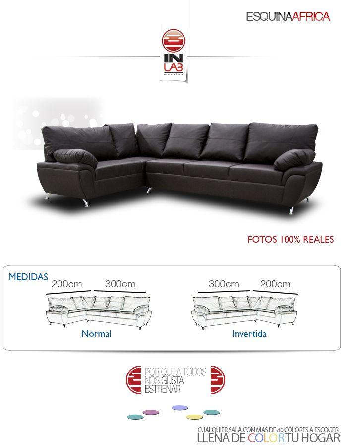 Salas Esquina Sillon Sofa Inlab Muebles Recamara Dmm - $ 7,870.00 ...