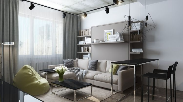фото интерьер однокомнатной квартиры 30 кв м