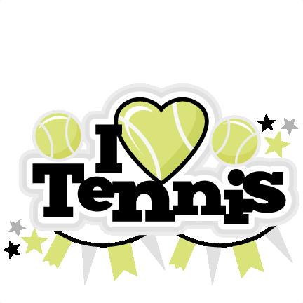 i heart tennis title scrapbook cut file cute clipart files for rh pinterest com Cute Tennis Clip Art Cute Tennis Clip Art