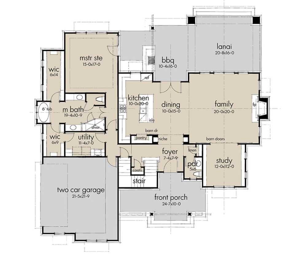 Rolling Wood Hills House Plan in 2020 | House plans ...