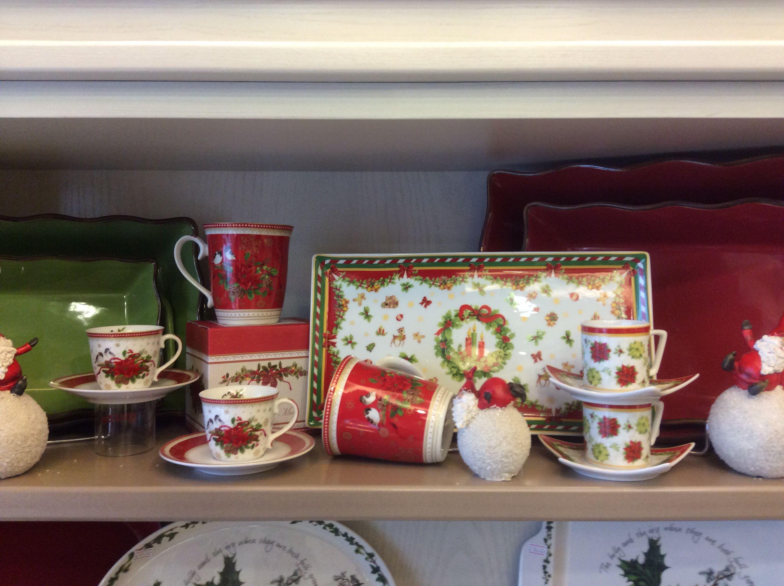 Espresso cup, plate, tea cup, Santa Claus decoration Xmas