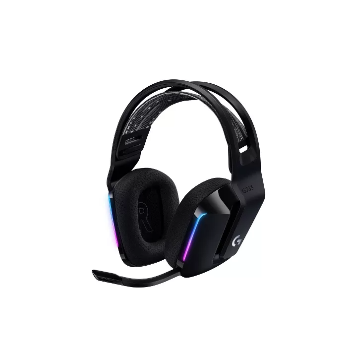 Logitech G733 Wireless Gaming Headset Black Gaming Headset Wireless Gaming Headset Gaming Headphones