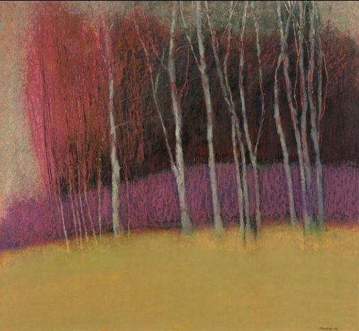 """George Shipperley """"Heather Hill"""" Oil Pastel"""