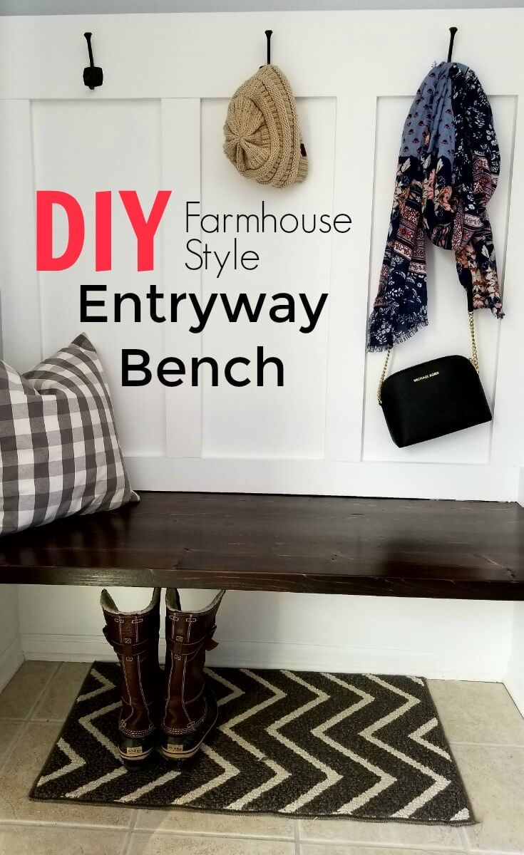 Save Money With This Budget Friendly Farmhouse Style Entryway Bench ...
