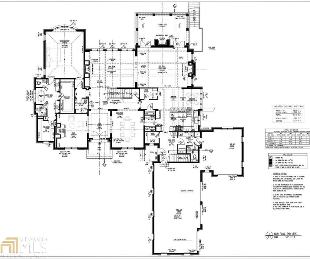8 000 Square Foot Country Club Home Main Level Floor Plan Alpharetta Ga House Plans Architectural House Plans House Floor Plans
