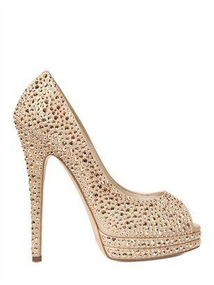 6f68e531f07 ShopStyle: Casadei - 130mm Swarovski Open Toe Pumps | Shoes | Shoes ...