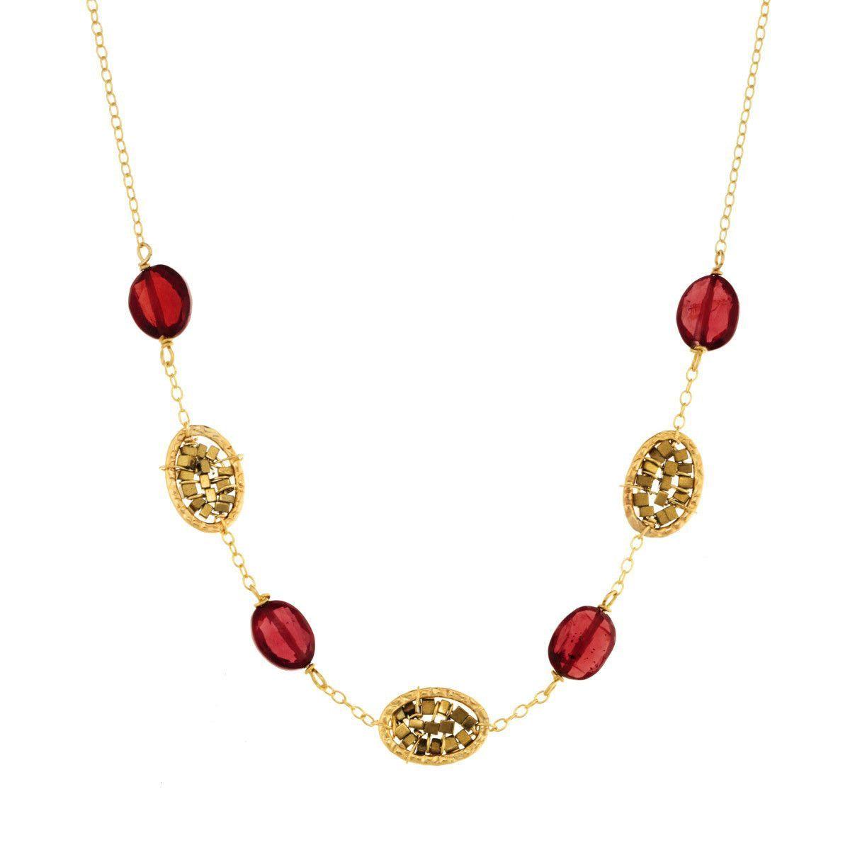 Garnet Necklace 3098 by Michelle Pressler Designer jewelry and Artisan
