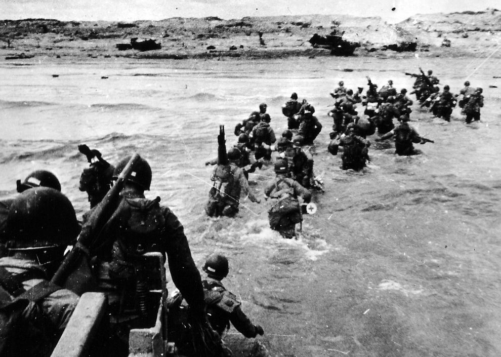 This Is A Photograph Of D Day Which Happened During 1944 It Is
