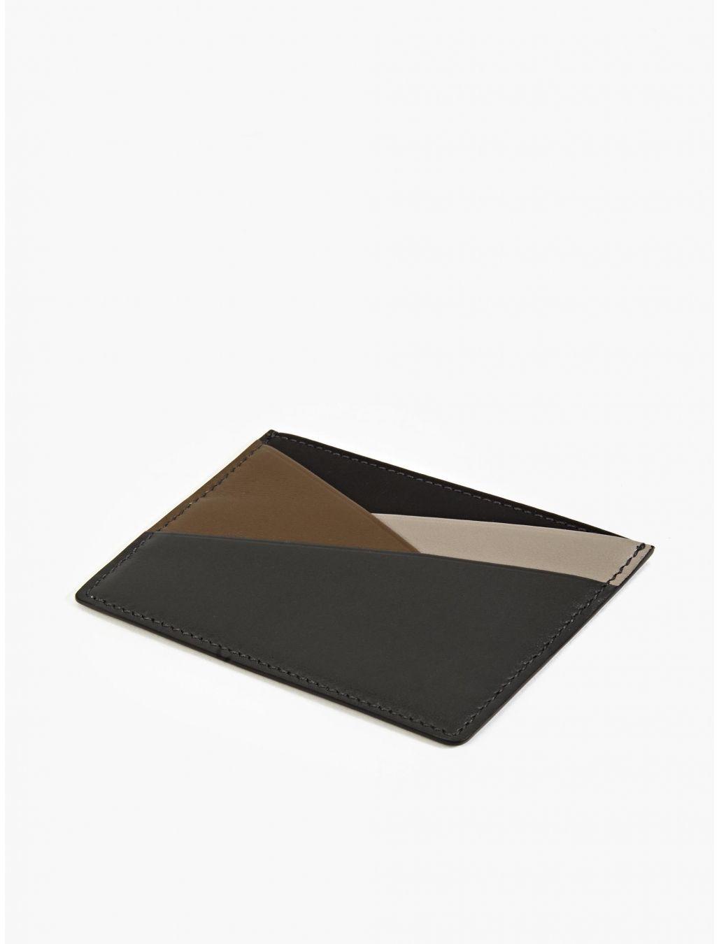 Smythson menus charcoal leather card holder okini Кожаные вещи