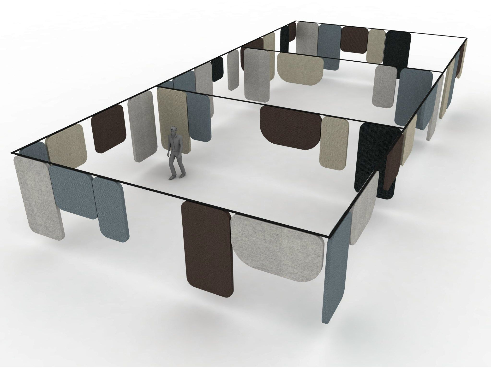 Panel de separaciÓn de escritorios fonoabsorbente notes colecciÓn