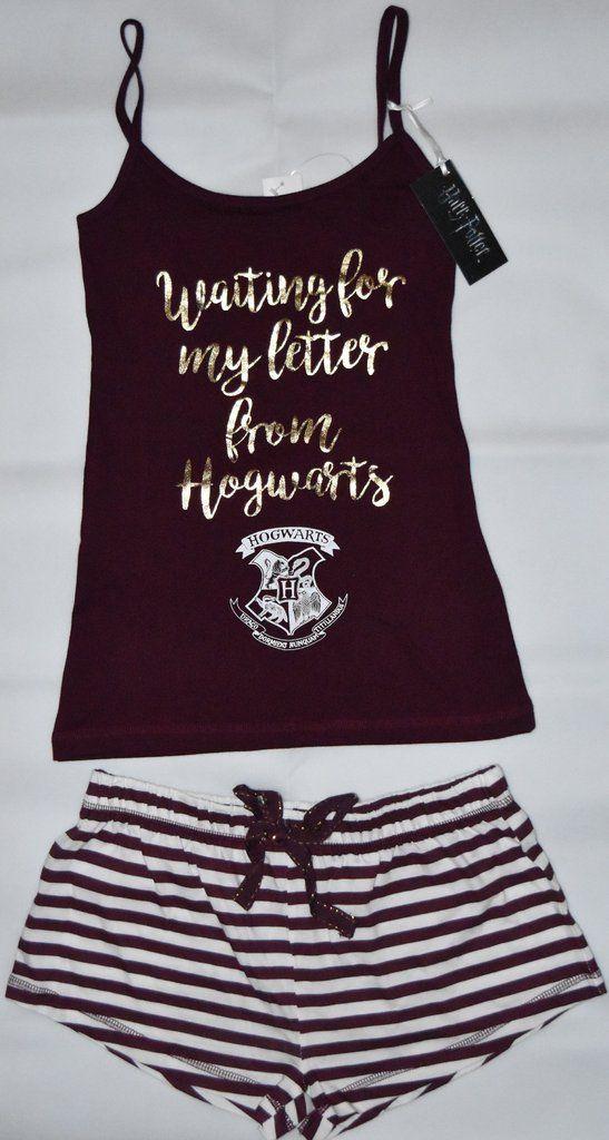 Girls Kids Harry Potter Shorts Pyjamas Summer PJs Hogwarts Gryffindor Nightwear