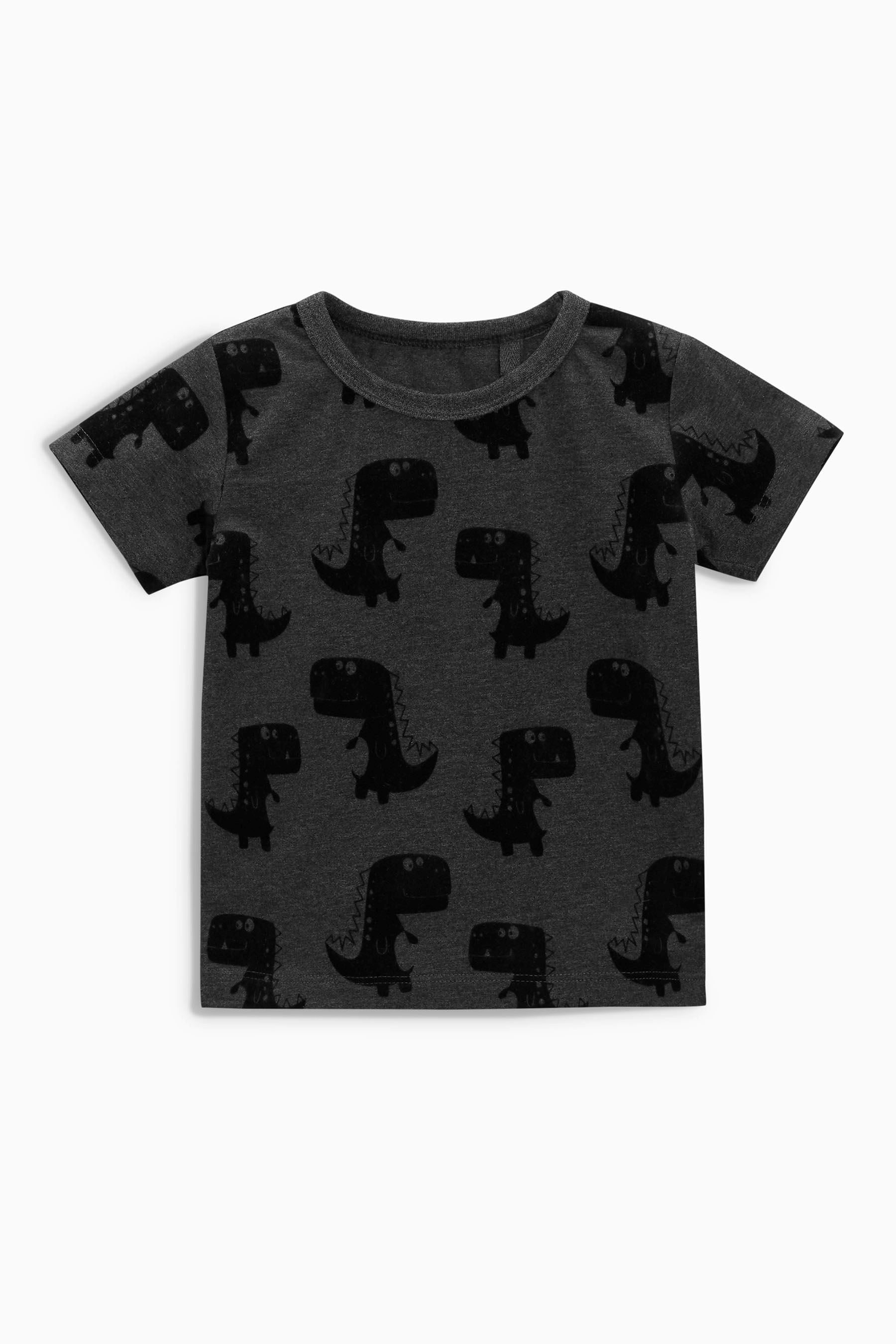 652510c1050f Buy Charcoal Dino Print Short Sleeve T-Shirt (3mths-6yrs) from the ...