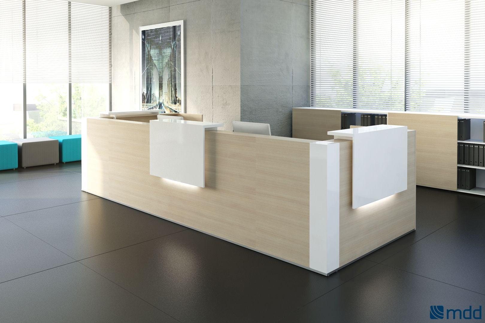 Oficina / Recepción / Diseños con Iluminación / Escritorios ...