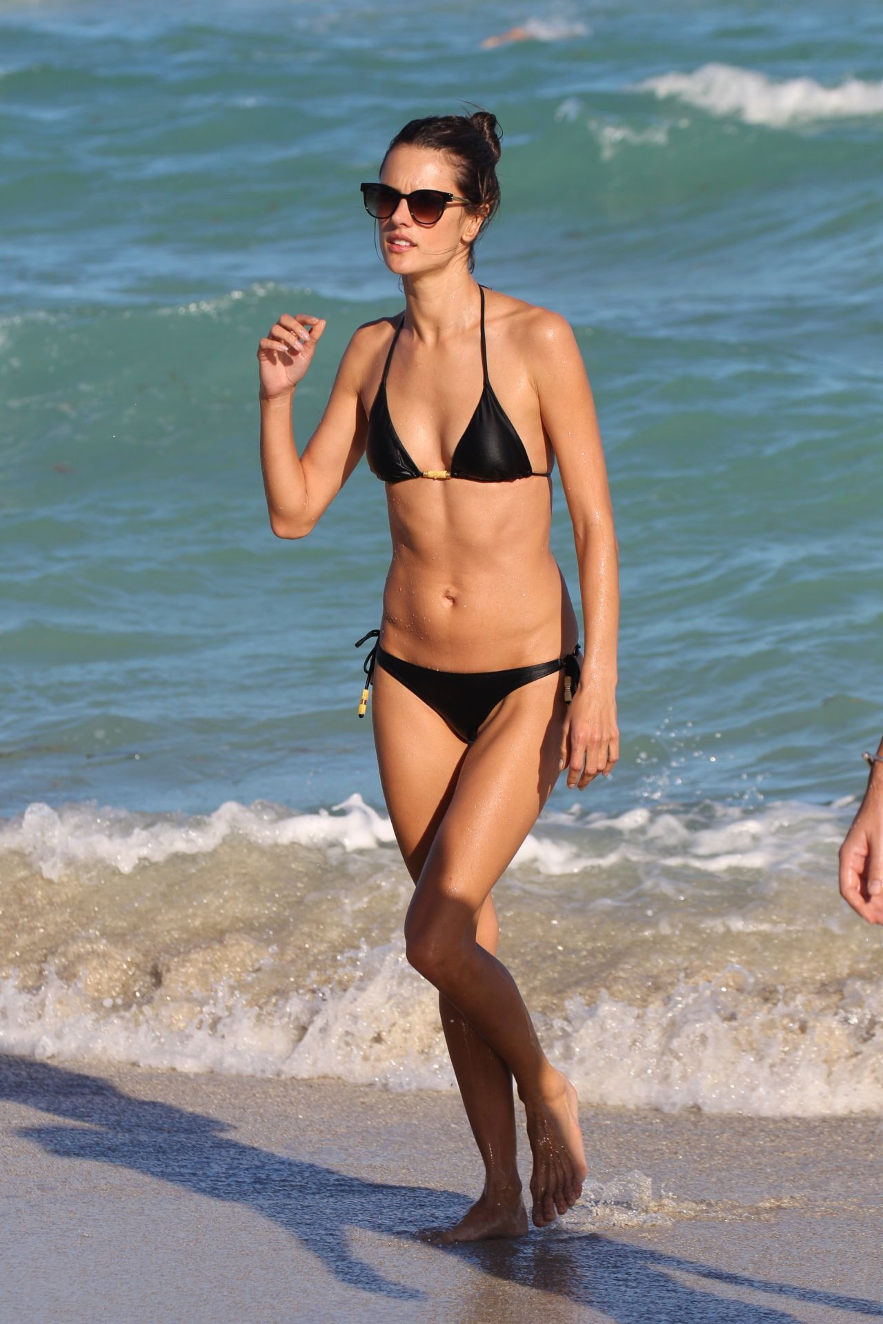 Watch Alessandra ambrosio in swimsuit at the beach in malibu video