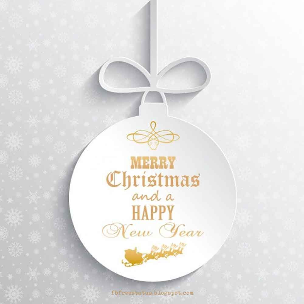 Merry Christmas and Happy New Year Wishes with Images