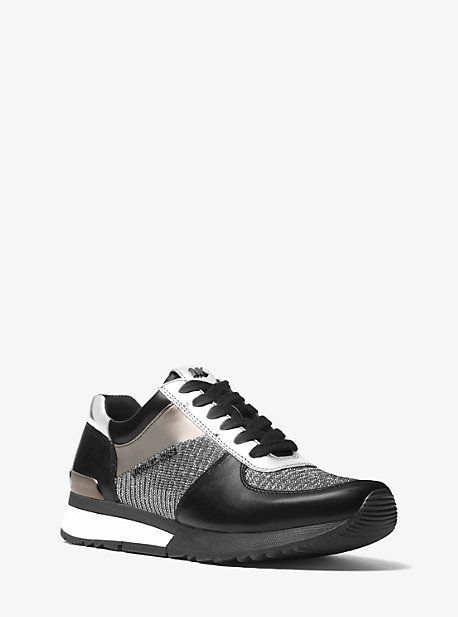 58d8f4a6e25 Michael Kors Allie Mixed-Media Sneaker | Products in 2019 - Michael ...