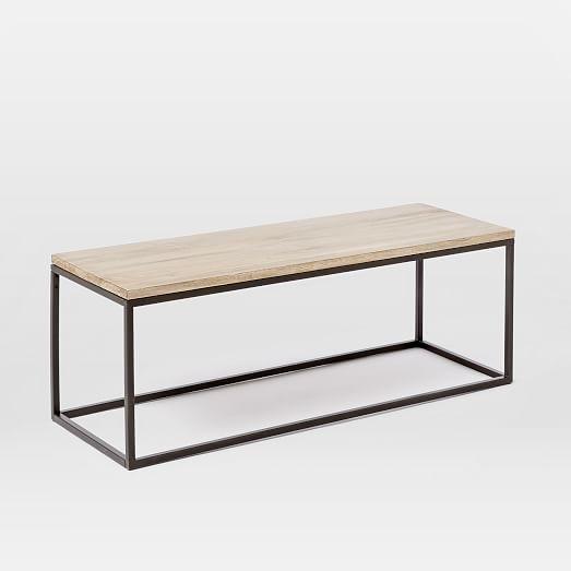 Box Frame Coffee Table - Whitewashed Mango | West Elm | furniture ...