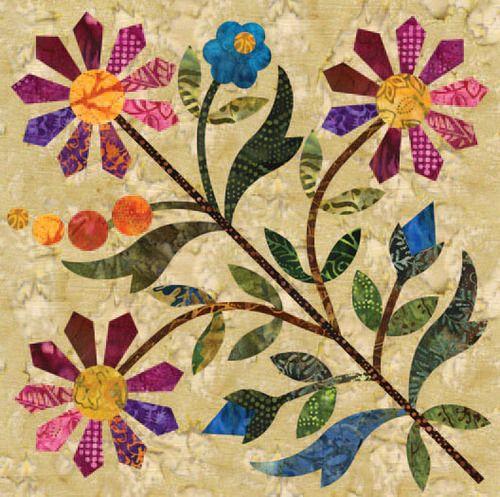 Siluety - Spring Bouquet Block 09