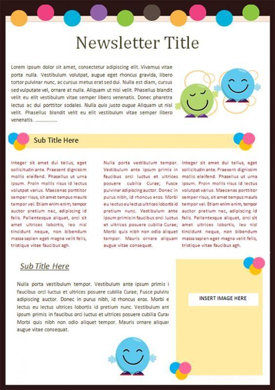 preschool newsletter template template classroom. Black Bedroom Furniture Sets. Home Design Ideas