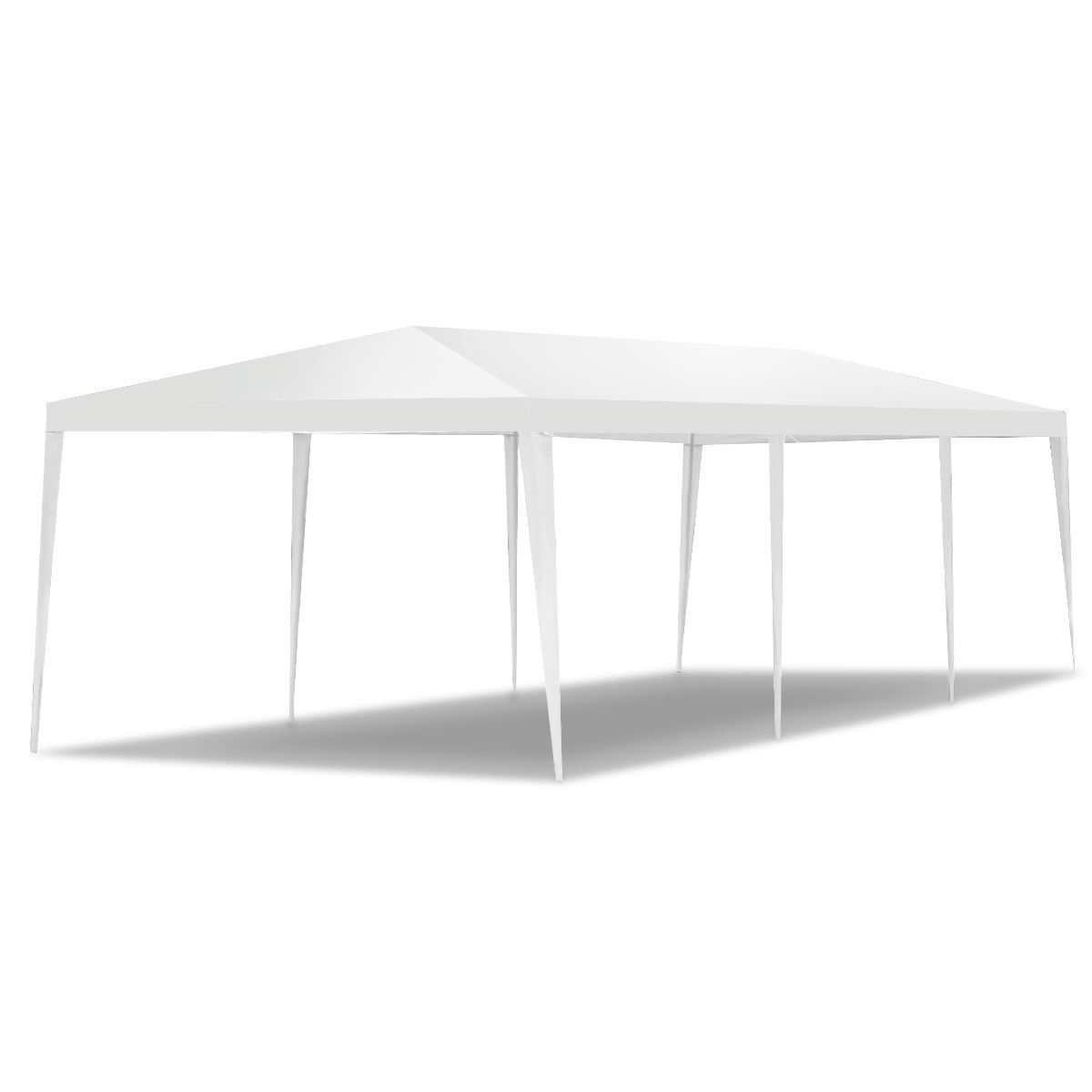 10 X 30 Outdoor Canopy Party Wedding Tent Color White Green Model 30 X10 Ft Three Side Wall Material Polyethyle Patio Tents Canopy Outdoor Canopy Tent